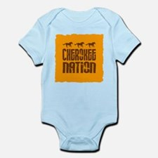 Cherokee Nation With Running Horses Body Suit