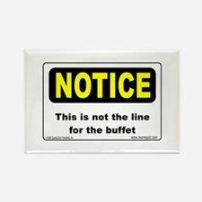 Buffet Line Rectangle Magnet