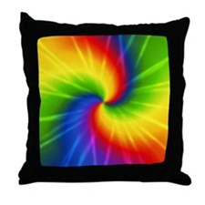 Retro Tie Dye Throw Pillow