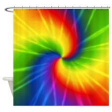 Retro Tie Dye Shower Curtain