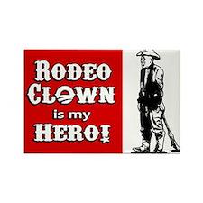 Rodeo Clown Hero Rectangle Magnet