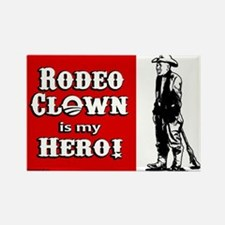 Rodeo Clown Hero Rectangle Magnet
