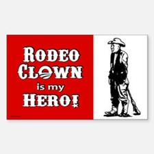Rodeo Clown Hero Decal