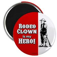 "Rodeo Clown Hero 2.25"" Magnet (10 pack)"
