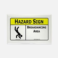 Breakdancing Area Rectangle Magnet