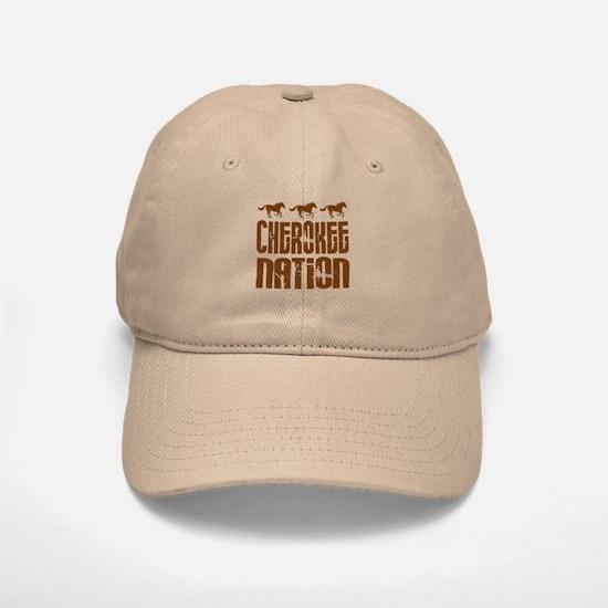 Cherokee Nation With Running Horses Baseball Baseball Baseball Cap
