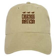 Cherokee Nation With Running Horses Baseball Baseball Cap