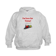 Loco for Trains-Red Hoodie