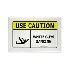 White Guys Dancing Rectangle Magnet