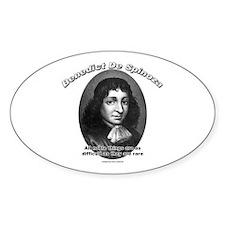 Benedict De Spinoza 02 Oval Decal
