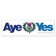 Aye Bumper Sticker