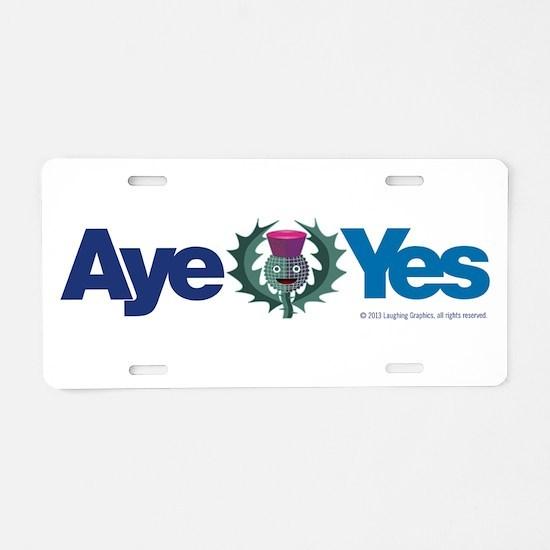 Aye Aluminum License Plate