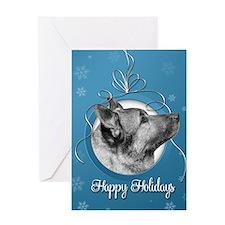 Elegant Elkhound Holiday Card