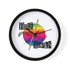 Flute Rocks Wall Clock