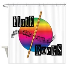 Flute Rocks Shower Curtain