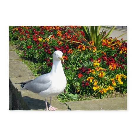 Seagull.png 5'x7'Area Rug