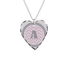 PinkA Necklace Heart Charm