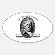 Sir Issac Newton 01 Oval Decal