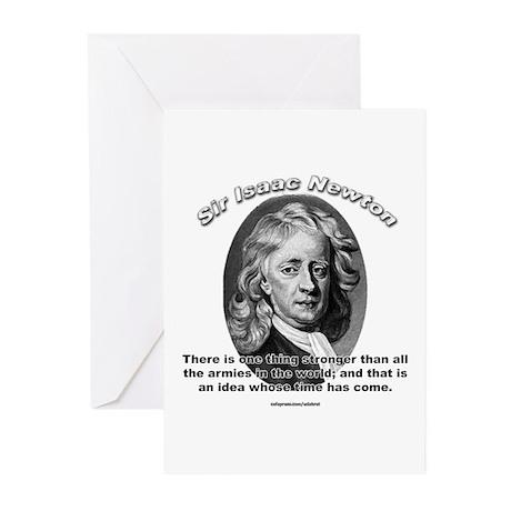 Sir Issac Newton 01 Greeting Cards (Pk of 10)