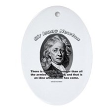 Sir Issac Newton 01 Oval Ornament