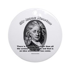 Sir Issac Newton 01 Ornament (Round)