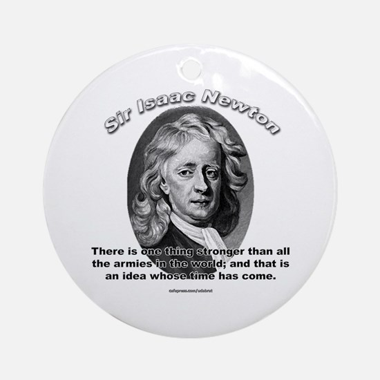 Sir Issac Newton 01 Ornament (Round)