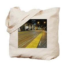 Follow the yellow line Tote Bag