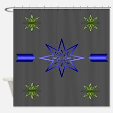 Awakening Star On Gray Shower Curtain