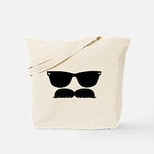 Sunglasses Mustache Tote Bag