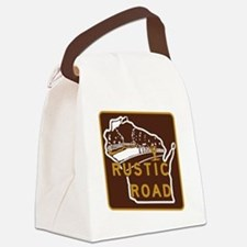 Wisconsin Rustic Road Canvas Lunch Bag