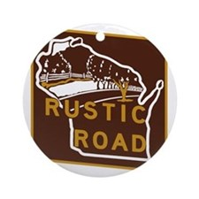 Wisconsin Rustic Road Round Ornament