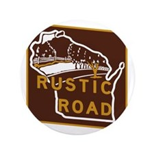 "Wisconsin Rustic Road 3.5"" Button"