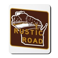 Wisconsin Rustic Road Mousepad