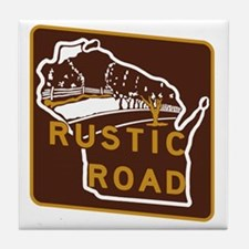 Wisconsin Rustic Road Tile Coaster
