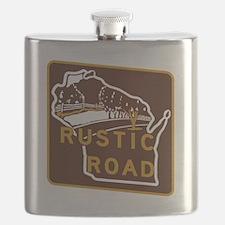 Wisconsin Rustic Road Flask