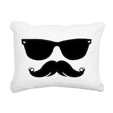 Sunglasses Mustache Rectangular Canvas Pillow