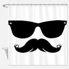 Sunglasses Mustache Shower Curtain