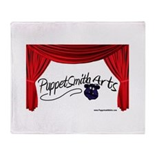 PuppetSmith Arts red curtain Throw Blanket