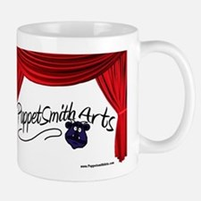 PuppetSmith Arts red curtain Mug