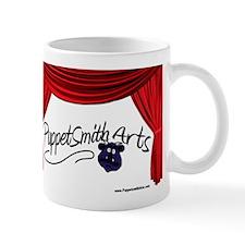 PuppetSmith Arts red curtain Mug