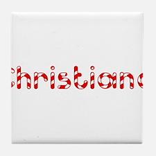 Christiana - Candy Cane Tile Coaster