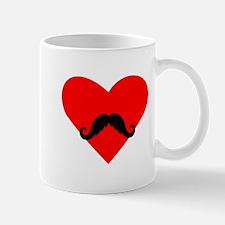 Mustache Heart Small Mug