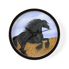 Friesian Horse Wall Clock