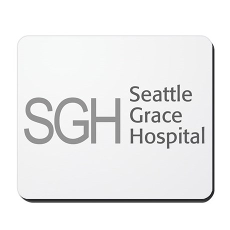 Grey SGH Logo Mousepad