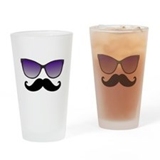 Sunglasses Mustache Drinking Glass