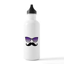 Sunglasses Mustache Sports Water Bottle