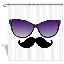 Sunglasses Mustache Shower Curtain