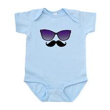 Sunglasses Mustache Body Suit