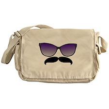 Sunglasses Mustache Messenger Bag
