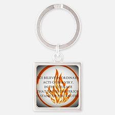 Dauntless Belief  Square Keychain
